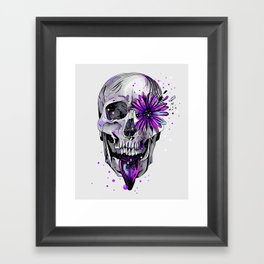 Fancy Skull Framed Art Print