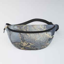 Blush, Payne's Gray and Gold Metallic Abstract Fanny Pack