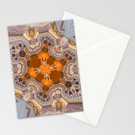 Abstract autumn with artistic mushrooms Stationery Cards