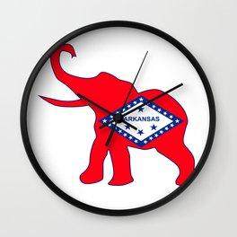 Arkansas Republican Elephant Flag Wall Clock