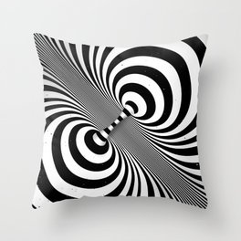 Dualism (black & white) Throw Pillow