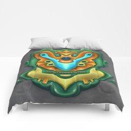 Summer Totem Green Comforters