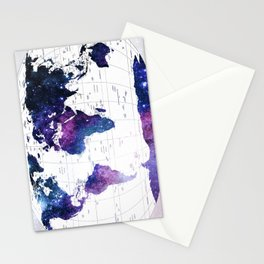 ALLOVER THE WORLD-Galaxy map Stationery Cards