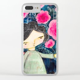 Quilted Princess Clear iPhone Case