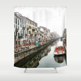Milano Navigli - Italy Shower Curtain