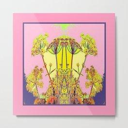 Queen Ann's Lace Floral Design Metal Print