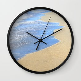 seascape 005: father, son, & 2 sandpipers Wall Clock