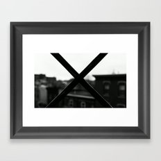 X MARX THE SPOT. Framed Art Print