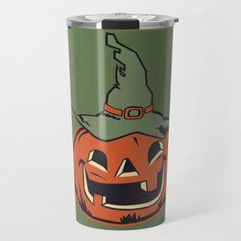 Vintage Jack O Lantern Pumpkin Travel Mug