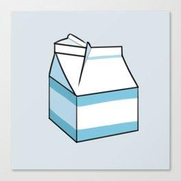 Milk Carton Light Blue Canvas Print