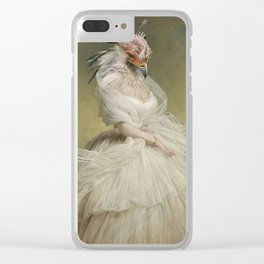 The Lady Organza Clear iPhone Case