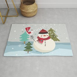 The Sweet Song Of Winter Friends Rug