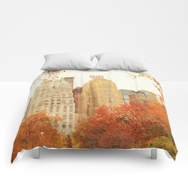 Autumn - Central Park - Fall Foliage - New York City Comforters