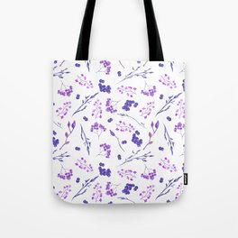 Violet lilac hand painted watercolor berries floral Tote Bag