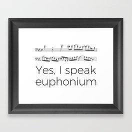 Do you speak euphonium? Framed Art Print