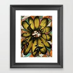 Let The Sunshine In (Sunflower) Framed Art Print