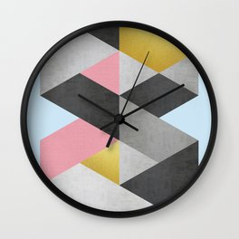 Fasion and golden lozenges I Wall Clock