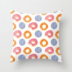 sweet things: doughnuts Throw Pillow