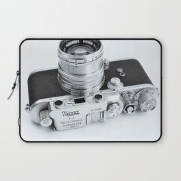 1950s Nicca 3-S 35mm Film Camera in Black & White Laptop Sleeve