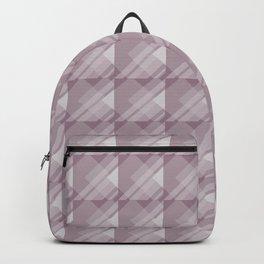 Modern Geometric Pattern 7 in Musk Mauve Backpack