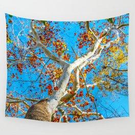Rainbow Tree Wall Tapestry