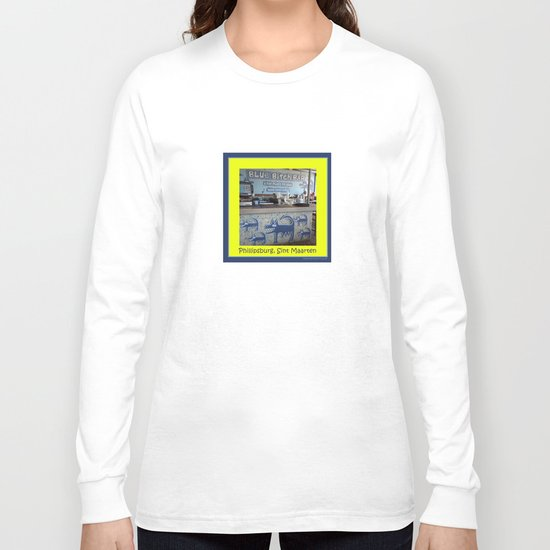 Blue Bitch Bar, St. Maartin Resort Travel Long Sleeve T-shirt