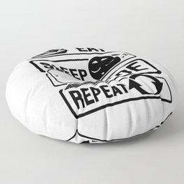 Eat Sleep Code Repeat - Computer Programmer CLI Floor Pillow