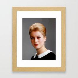 Catharine Deneuve, Vintage Actress Framed Art Print