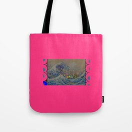Trippy Great Wave Tote Bag
