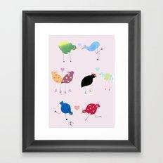 Birds in love Framed Art Print