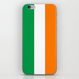 Irish national flag - Flag of the Republic of Ireland, (High Quality Authentic Version) iPhone Skin