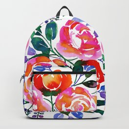Pink Orange Roses Backpack