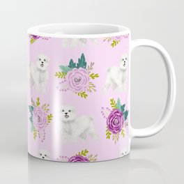 Maltese dog breed florals pattern cute gifts for dog lovers by pet friendly Coffee Mug