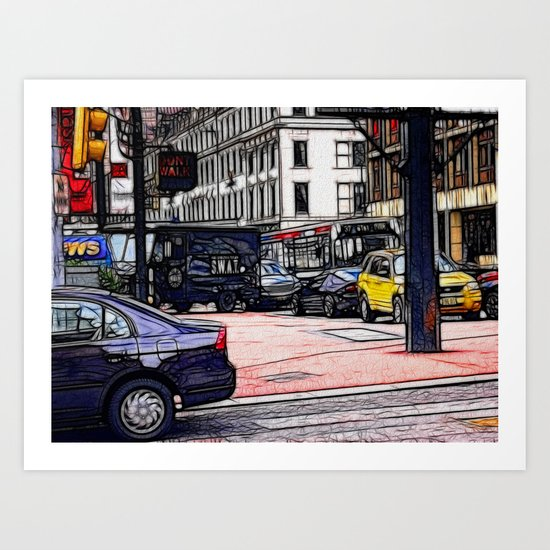 World War Z Street Scene Art Print