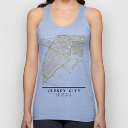 JERSEY CITY NEW JERSEY STREET MAP ART Unisex Tank Top