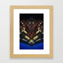 Gare Bruxelles-Luxembourg Station Brussel-Luxemburg symmetry rorschach caleidoscope Framed Art Print