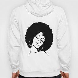 Afro Diva Black Girl Magic Shirt Gold Lips Natural Melanin wife Hoody