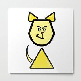 Robot Cat Assistant Metal Print