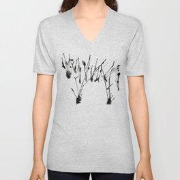 zebra ink splatter Unisex V-Neck