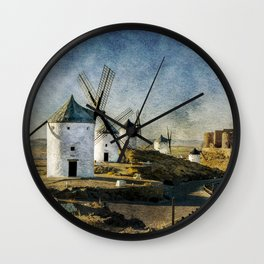 Windmills of Castilla la Mancha Wall Clock