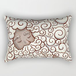 Cloud Beard Man Rectangular Pillow