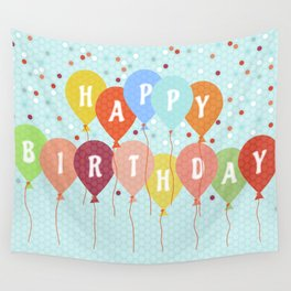 Colorful Birthday card Wall Tapestry