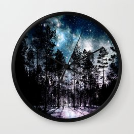 One Magical Night...(teal & lavender) Wall Clock