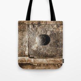 Sepia Guard Rail Tote Bag