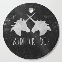 Ride or Die Unicorn Magic Cutting Board