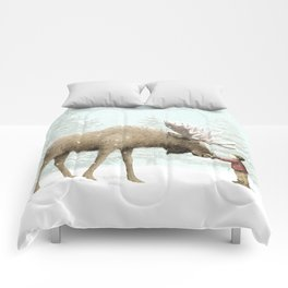 Winter Moose Comforters