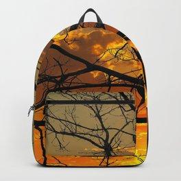 Sunset Tree, California Backpack