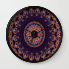 Jewelled Peacock Wall Clock