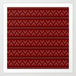 Pattern Christmas Snowflake Art Print