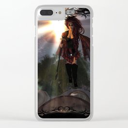 Fire in the Sky Clear iPhone Case